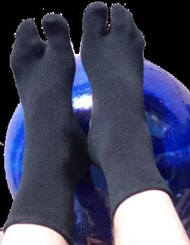 Ein-Zehensocken, Tabi-Socken, Farbe schwarz