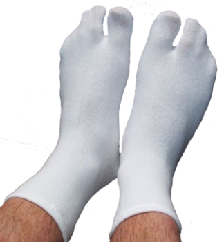 Ein-Zehensocken, Tabi-Socken, Farbe weiss