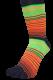 Zehensocken, Dreifarbringel, Schworapop, Schwarz, Rot, Grün, Orange, Gelb