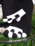 Zehensocken mit schwarz-weissen Zehen, Schwarz, Piano
