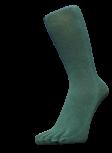 Zehensocken, unifarben, dunkelgrün, Grösse 42 - 48
