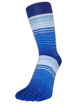 Zehensocken, mehrfarbig Kornblau, Meerblau, Weiss, Grösse 35 - 41