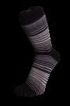 Zehensocken, mehrfarbig, schwarz, Grau, Antrazit, Grösse 35 - 41