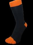 Zehensocke mit bunten Zehen, Schwarz, Orange 42 - 48