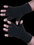 Kurzfinger-Handschuhe, Farbe schwarz L