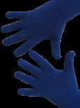 Handschuhe, Langfinger, unifarben, Royalblau XS