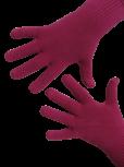 Handschuhe, Langfinger, unifarben, Pink S