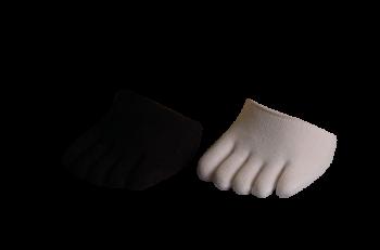 Cloggys, 2er-Set, schwarz und weiss, 1/4 Socke