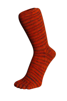 Zehensocken, Batikeffekt. Orange-Batik