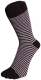 Zehensocke Ringel schmal, schwarz-hellgrau 42 - 46