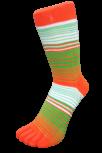Zehensocke, mehrfarbig Orange, Grün, Weiss, Grösse 35 - 41