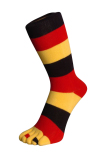 Zehensocken für Nationen, Deutschland, Schwarz-Rot-Gelb