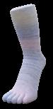 Zehensocken mehrfarbig, Multicolor-Pastell, Grösse 35 - 41