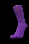 Zehensocken, unifarben, lila, Grösse 42 - 48