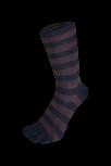 Zehensocken zweifarbig, schwarz, Mokka, Grösse 35 - 41