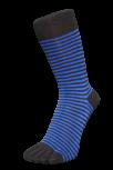 Zehensocken, Ringel schmal, schwarz-royalblau 42 - 48