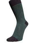 Zehensocken, Ringel schmal schwarz-dunkelgrün, Grösse 42 - 48