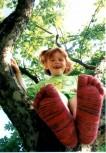 Kinder-Zehensocken, Erdbeerbrause, Rot-Batik