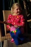 Kinder-Zehensocken, Sockenkönig/in, blau mit bunten Zehen