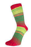 Zehensocken, Dreifarbringel, Ropop, Rot-Grün-Gelb 35 - 41