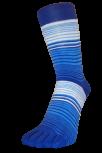 Zehensocken, Dreifarbringel, Komewe, Kornblau-MeerblauWeiss