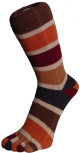 Zehensocken, sechsfarbig, Jahreszeiten, Herbst 42 - 48