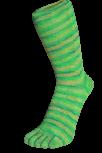 Zehensocken, mehrfarbig Batik, Apfelgrün, Grösse 35 - 41