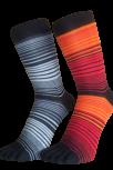 Zehensocken, mehrfarbig, schwarz, Orange, Rot, Grösse 35 - 41