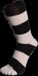 Zehensocken, Blockringel, schwarz-weiss