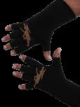 """Kurzfinger-Handschuhe, Motiv """"Elch"""", Fb. schwarz-braun"""