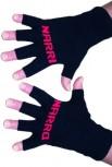 "Kurzfinger-Handschuhe ""Narri-Narro"", Fb. schwarz-rot"
