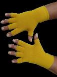 Kurzfinger-Handschuhe, Farbe maisgelb