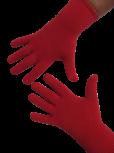 Handschuhe, Langfinger, unifarben, Feuerrot