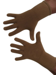 Handschuhe, Langfinger, unifarben, Haut (Rehbraun)