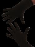 Handschuhe, Langfinger, unifarben, Dunkelbraun