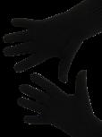 Handschuhe, Langfinger, unifarben, Schwarz