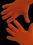Handschuhe, Langfinger, unifarben, Orange