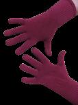 Handschuhe, Langfinger, unifarben, Weinrot L