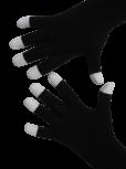 Handschuhe, Langfinger, schwarz, weisse Fingerkuppen, Grösse M