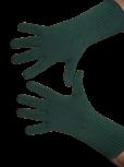 Handschuhe, Langfinger, unifarben, Dunkelgrün