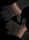 Handschuhe, Langfinger, schwarz-braun-rehbraun, Grösse M