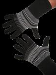 Handschuhe, Langfinger, schwarz-grau-anthrazit, Grösse M