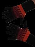 Handschuhe, Langfinger, schwarz-orange-rot, Grösse M
