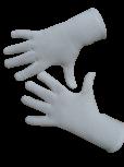 Handschuhe, Langfinger, unifarben, Weiss