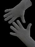 Handschuhe, Langfinger, unifarben, Hellgrau